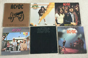 6 LP's - AC/DC (ACDC) - Back In Black,Highway To Hell, Let It Be Rock - Sammlung