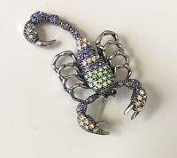 Unique scorpion brooch pin