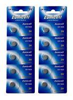10 x CR1025 3V  Lithium Batterie auf 2 Blistercard a 5 Stück Eunicell