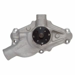 Edelbrock 8882 Water Pump (Short Style), Reverse Rotation, For Chevy Small Block