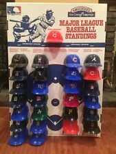 Baseball MINI HELMET DISPLAY Collection Advertising 1977 Smuckers 25 MIB hat cap