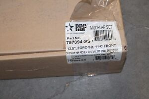 RBP Rolling Big Power 757094-SS Mud Flap Set 12.5'' Front, Fits Ford 2011-Cur