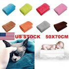 US SALE Super Soft Solid Warm Micro Plush Fleece Blanket Throw Rug Sofa Bedding