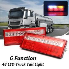 24V 48 LED Trailer Truck Caravan Tail Light Brake Reverse Driving Fog Turn Lamps