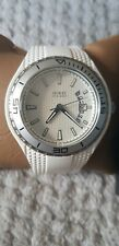 Mens Guess Fin Watch W95143G3 white rubber