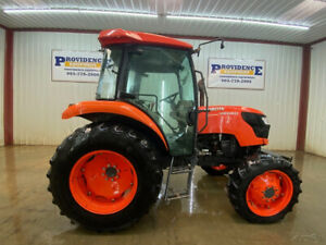 2018 KUBOTA M6060 CAB TRACTOR WITH A/C AND HEAT!