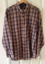 Smart Casual Cotton Brown Mix Shirt 'Easy' Classic Collection Size L