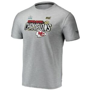 Official Kansas City Chiefs NFL Super Bowl LIV Champions Locker Room T-Shirt Med
