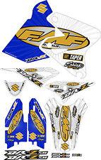FMF Exhaust Graphic Kit DRZ400SM Drz400s drz 400sm 400s drz400 Shrouds Blue Gold