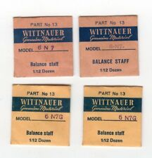 Wittnauer Genuine Material Set of 4 NOS Balance Staffs for Wittnauer Cal. 6N7/G