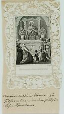 LEDOYEN, Votivkarte, Votivbild m. Marienaltar u. Gläubigen, um 1870, Stahlst.