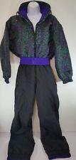 Vtg SkiSuit Tyrolia Skiwear REVERSIBLE  Womens Size 6 Purple/ Black/ Teal
