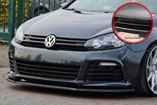 Spoilerschwert Frontspoiler aus ABS für VW Golf 6 R mit ABE schwarz glänzend
