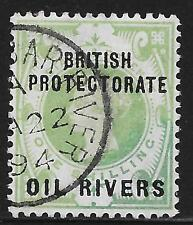 Nigeria/Oil Rivers stamps 1892 SG 6  CANC  VF