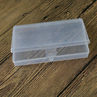 Small Transparent Plastic Storage Box Clear Square Container Case Home Use
