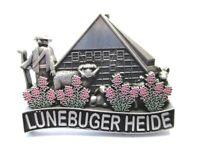 Lüneburger Heide Metall Magnet Schäfer Schaaf Germany Souvenir