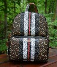 NEW Authentic BURBERRY Monogram Stripe Print E-Canvas Backpack