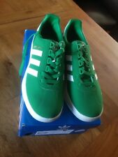 Adidas Trainers New Boxed TRIMM TRAB Green White UK Size 8.5 8 1/2 Originals