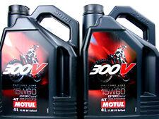 MOTUL 300v 15w60 ACEITE DE MOTOR 2x 4 Litros para 4 tiempos 15w-60 OFF ROAD