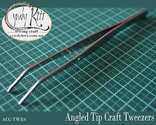 Angle tip, craft tweezers