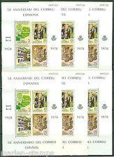 SPANISH ANDORRA 1978 EUROPA LOT OF SOUVENIR SHEETS MINT NH AS SHOWN