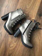 New GUESS Womens Ankle Boots Shoes High Heeled Size UK 5 EUR 38