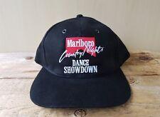 Vintage 90s MARLBORO Country Nights DANCE SHOWDOWN Strapback Hat Cigarettes Cap
