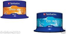 50 DVD -R vergini Verbatim AZO 16x + 50 CD-R Verbatim extra protection 52x CD -R