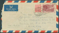 INDIA TO SPAIN Air Mail Cover 1950 VERY NICE!