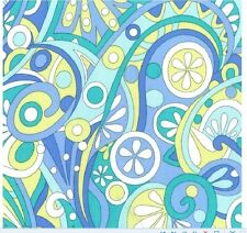 Michael Miller Fabric MOD SWIRLS Aqua & Lime- yards