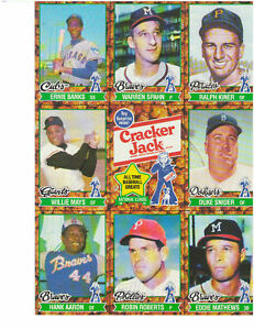 """Limited Edition 1982 Old Timers Crackerjack  sheet """"B"""""""