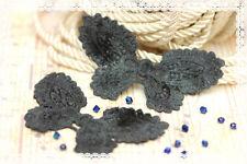 Coppia pizzo macramè per  Creare orecchini 9cmX5cm COLORE  grigio