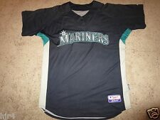Seattle Mariners #28 MLB Game Worn Used majestic Coolbase Jersey 50
