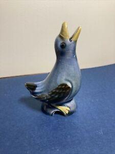 Vintage Speckled Bluebird Pie Bird
