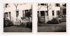 2 PHOTOS Snapshot Voiture Auto Automobile Peugeot 203 Vers 1960 PHOTO ANCIENNE