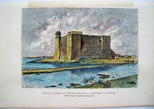 Antique Print: Cuba: Havana: West Indies: Engraved Print: E. Reclus: Paris 1885