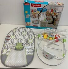Fisher-Price Baby's Bouncer Geo Meadow NEW (Box Damage) 20 lb limit Vibrating NE