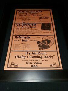 Eurythmics/Autograph/Clannad Rare Original Radio Promo Poster Ad Framed!