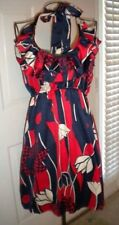 Judith March halter dress, size large, red white and blue
