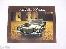 1977 Chrysler Cordoba Original Sales Brochure Dealer Catalog