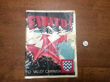 WWII 1945 Finito Po Valley Campaign 15th Army Group Italy Book 8th 5th Mar Clark
