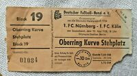 Orig. Ticket 10.5.1958 1.FC Nürnberg 1.FC Köln Meisterschaft Eintrittskarte DFB