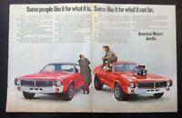 1968 American Motors AMC Javelin  Blower  2page*Original*car ad print