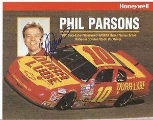 Phil Parsons 7x9 Autogrpaphed Postcard Busch Series L@@K