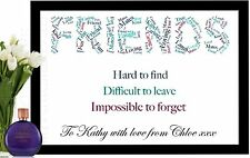 FRIENDS GIFT WORD ART PERSONALISED BIRTHDAY BEST FRIEND NEIGHBOUR THANK YOU