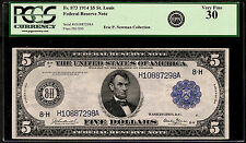 1914 $5 ST. LOUIS ❀❀BURKE&GLASS❀❀ PCGS VERY FINE 30