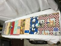 Large Lot Assorted Vintage Gift Wrap Paper  2 Pounds Country Farm Birthday Baby