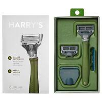 Harry's Razor NEW IN BOX Truman Razor Green color Shave Handle 2 blades NEW ,