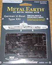 German U-Boat Type XXI Metal Earth 3D Laser Cut Model Fascinations MMS121
