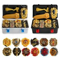 12X Beyblade Burst Set Spinning with Gold Grip Launcher+Portable Storage Box Toy